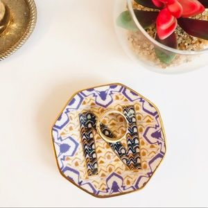 "Anthropologie monogram ""N"" ring dish"